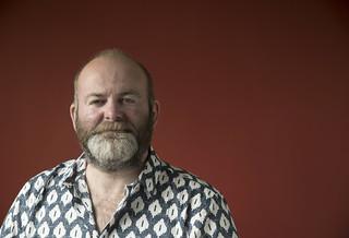 Red Canvas Portrait : Steve Tromans