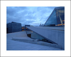 Oslo opera exterior study III (Christa (ch-cnb)) Tags: oslo norway norge opera house architecture snøhetta blue clouds olympus tg4 tough