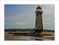 Talacre shadows (prendergasttony) Tags: seaside d7200 rock landscape talacre beach water holiday tonyprendergast lighthouse nikon outdoors estuary river sand steps flint ladder door ocean sky wales welsh hill field