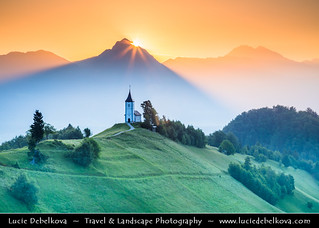 Slovenia - Julian Alps - Church Of St Primoz - Iconic Jamnik church at Sunrise