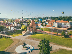 Hot Air Balloons over Kaunas Old Town | Aerial #189/365