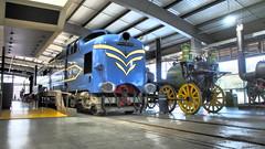 Deltic & Sans Pareil. (ManOfYorkshire) Tags: deltic diesel experimental dp1 sanspareil steam loco locmotive railway train museum locomotion shildon nrm nationalrailwaymuseum display throughtheages