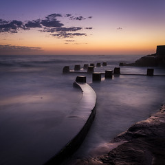COOGEE PODIUMS (LA GRANDE TERRE) Tags: australia calm canon coogee coogeebeach dawn efs1855mmf3556isii eos1300d longexposure morning newsouthwales nsw photoshopcc pool rockpool sunrise sydney trenquil