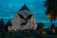 Norwegian church (steffos1986) Tags: nature landscape church night dark sky graveyard tripod vivitar3570f28 nikond800