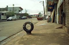 Gomería (mavricich) Tags: gente carretera cielo árbo goma street calle original olympus lomography color colores compacta 35mm film argentina misiones