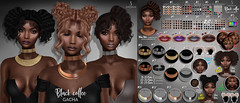Black coffee gacha @The Epiphany (Sintiklia-sims) Tags: epiphany gacha black coffee hair hairstyle buns wavy ponytails babyhair choker african