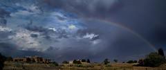 Rainbow Skies (Anna Gurule) Tags: rainbow stormyskies cloudyskies clouds eldoradoatsantafe artedgy annaortizgurule annagurule eveningclouds