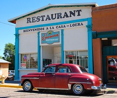 The Real Las Vegas (Chuck Pacific AKA Chuck Tofu) Tags: lasvegasnm newmexico classiccar plymouth mexicanrestaurant i25 historicplaza southwest hispanicculture mexicanculture