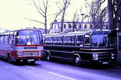 Slide 119-47 (Steve Guess) Tags: cheltenham gloucestershire england gb uk bus coach npa231w green line lcbs london country plaxton wdf999k volvo marchants castleways leyland leopard pl31 wdf999x