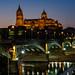 Salamanca Cathredral and the Steel Bridge (ozipital) Tags: europe salamanca cathedral bridge river rivertormes spain puente enrique estevan puentedeenriqueestevan