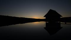 Silent Dawn (Christoph Wenzel) Tags: wasser deutschland herbst natur hohenfelden thüringen de sonnenuntergang spiegelung sonyalpha6000 dawn samyang12mmf20