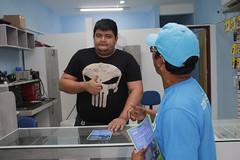 Manaus 19.06.18. Cadastro do Zona azul de moradores e comeciario no centro.