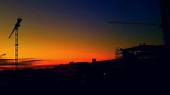 Sunrise HERMA construction site - Baustelle - Sonnenaufgang (eagle1effi) Tags: herma baustelle sunrise mörgendämmerung vivid lebhaft art effiart unterbelichtet manuelle einstellungen bonlanden werk2 panorama romantik sonnenaufgang filderstadt
