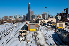 BNSF 9766 at Chicago, Illinois (Brad Morocco Photo) Tags: 8 9766 amtk amtrak bn bnsf charger chicago city creamandgreen emd empirebuilder exec executive ge il illinois p42 passengertrain railroad sc44 sd70mac siemens skyline