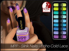 MPP - Slink Nails - Boho Cold Lace (MPP - My Pretty Pixels) Tags: mpp myprettypixels slink nails appliers fingers toes