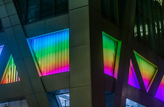 rolling rainbow light ribbon (pbo31) Tags: sanfrancisco california nikon d810 color night dark city black june 2018 boury pbo31 urban financialdistrictsouth 181fremont contemporary architecture fremontstreet blue