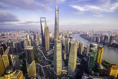 Shanghai Lujiazui Cityscape (Tony Shi Photos) Tags: shanghai china asia bund puxi city urban architecture buildings landmark cityscape famous orientalpearl ifc swfc shanghaitower jinmao towers huangpuriver huangpu 外滩 陆家嘴 上海