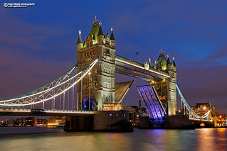 Tower Bridge at dusk,