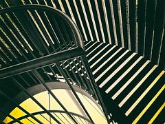 (andzwe) Tags: blackandwhite silhouette danger creepy scary stairs trap toren tower meppel staphorst reest uitkijktoren watchtower panasonicdmcgh4 dewijk drenthe netherlands dutch nederland lijnenspel yellow geel geelzwartwit yellowblackandwhite filter blackandyellow zwartengeel dizzy thriller chase