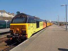 67027 & 67023 Penzance (4) (Marky7890) Tags: networkrail 67023 67027 class67 1q18 penzance railway cornwall cornishmainline train