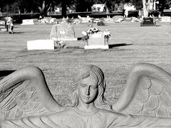 Greenwood Cemetery (kevinellison62) Tags: blackwhite cemetery greenwoodcemetery graves angel york nebraska