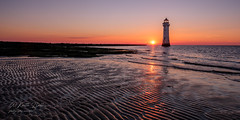 Perch Rock Lighthouse (keithbellis) Tags: purple newbrighton wallasey merseyside rivermersey wirral sunset lighthouse perchrock