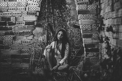 Lara (alcure85) Tags: ifttt 500px portraits black white monochrome bw wall brick gothic girl beauty boho brazil brunette capixaba colatina country dress espiritosanto flare flowers fotografia grass photography skinny sun woodland woods