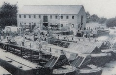 180718 Market Harborough Water Front - The boatyard where Ron's canal boat was built in 1962 (Gary Danvers Collection) Tags: england leicester