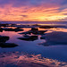 Tidal Reflections (CloudRipR) Tags: moonlightbeach sunset california clouds rocks tides surf beach sand reflection color nikon nikkor d810
