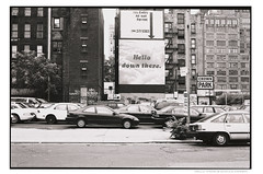 hellodtNYCAPX100036exp (JGF015) Tags: ny nyc manhattan visit agfa apx100 contax rodinal planar zm carlzeiss macroplanar28f60mm westsidehighway ad wall crownpark downtown westside urbanversatility rent commercialset paper rama reklama studio weil trade message