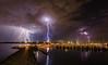 Electrifying (Mccamli) Tags: lightning hillarys marina australia clouds boats reflections nightscape seascape landscape dramatic