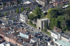 Bury St Edmunds Abbey Gate - aerial image (John D Fielding) Tags: burystedmunds abbeygate suffolk above aerial nikon d810 hires highresolution hirez highdefinition hidef britainfromtheair britainfromabove skyview aerialimage aerialphotography aerialimagesuk aerialview drone viewfromplane aerialengland britain johnfieldingaerialimages fullformat johnfieldingaerialimage johnfielding