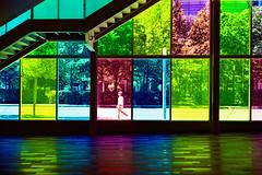 Palais des Congrès, Montréal (SebRiv) Tags: stairs mrokkor40mmf2 palaisdescongrès colorful québec studioargentique colors composition streetphotography montréal windows architecture minoltacle kodakportra400