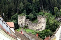 Fisheye ruins (Nada BN) Tags: friesach breže austria fisheye ruins fortress humour