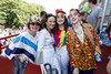 Margaret Kavanagh Anne Kavanagh, Sarah Mulligan and Seán Mulligan pictured on the Mamma Mia! Here We Go Again float at this year's Dublin Pride Parade, Saturday June 30th. Picture Andres Poveda