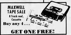 Maxwell / Maxell (The Mandela Effect Database) Tags: maxwell maxell audio cassette mandela mandala mandelaeffect name change residual research residue proof print news newspaperscom newspapers
