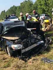 Head - On Wreck -Sandhills Road (Harold Dawkins Photography) Tags: wreck accident 944 photographer944 harolddawkins photos firephotos fires rescue 050 highway pictures pics injured hospital ems transport crash