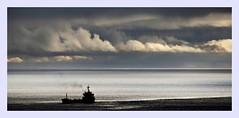Cargo ship! (Jorge Cardim) Tags: ship cargo barco mar nuvens