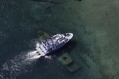Blue Heron 8 over the Shipwreck Sweepstakes (blueheronco) Tags: blueheron8 aerial aerialphotography shipwreck schooner sweepstakes 1885 bigtubharbor bigtubharbour tobermory ontario canada georgianbay brucepeninsula boat water harbour lake bay