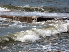 High tide at Earnse Bay (billnbenj) Tags: barrow cumbria earnsebay hightide waves surf spray