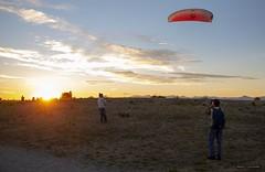 Captured (Clayton Perry Photoworks) Tags: vancouver bc canada richmond summer steveston garrypointpark explorecanada explorebc sunset kite wind