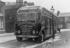 An odd design (Museum of Transport Greater Manchester archive) Tags: museum transport cheetham manchester wwwgmtscouk gmts bus buses museumoftransport gmtscollection greatermanchestertransportsociety boylestreet cheethamhill m88uw greatermanchester heritage history lvr998 sharp crellin duplex coach coaches foden pvfe6 mannegerton