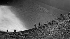 Cardiovascular (SLpixeLS) Tags: blackandwhite chamonix aiguilledumidi 3842meters 12602feet hypoxialimit mountain landscape snow france art artistic artphotography people ski climb
