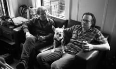 Kathy's Birthday Party (neilsonabeel) Tags: nikonactiontouch nikon film analogue blackandwhite pointandshoot dog pet