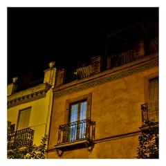 la fenêtre bleue (Marie Hacene) Tags: séville sevilla espagne andalousie fenêtre rue street immeuble
