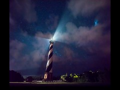 Cape Hatteras Lighthouse at Night (Alan Studt) Tags: alanstudt nikon d810 tamron150300mmf28 adobelightroom shotinrawformat stars starrysky starrynight nightsky capehatteraslighthouse obx outerbanks