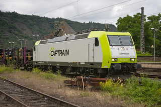 A Captrain BR 185 at the train station Cochem, Germany