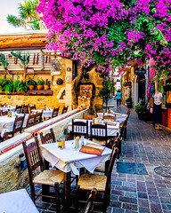 Chania, Crete (Explore) (Kevin R Thornton) Tags: d90 taverna crete travel street city greece mediterranean architecture chania nikon creteregion gr