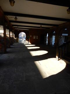 Old Amersham Market: beneath the market hall
