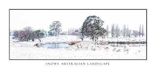 Rural farmlands in country Australia after fresh snow falls
